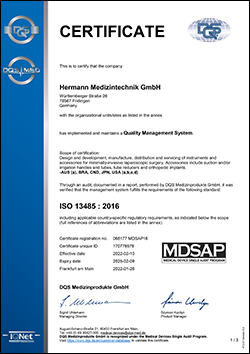 [Translate to Englisch:] DIN EN ISO 13485:2012